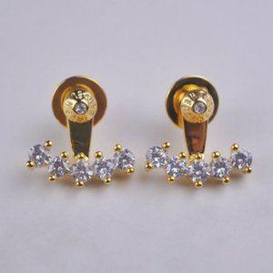 Henri Bendel Suspended Zircon Stud Earrings